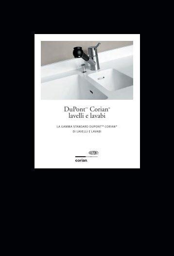 Documentazione su Corian® lavelli e lavabi