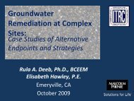 Groundwater Remediation at Complex Sites: - ITRC