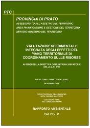 valutazione degli effetti ambientali del p - Provincia di Prato