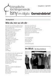 Gemeindebrief 2/2008 - Evangelische Kirchengemeinde Isny im ...