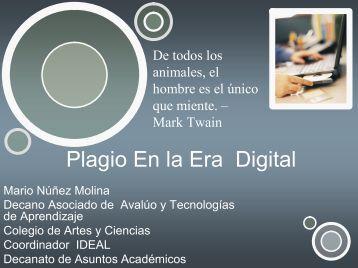 Plagio En la Era Digital - UPRM