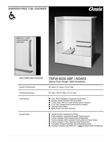 TSFW-6030 ABF / ADA03 - Oasis Bath