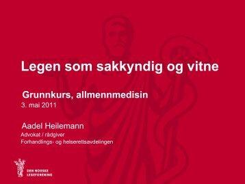 A Heilemann Sakkyndig og vitne