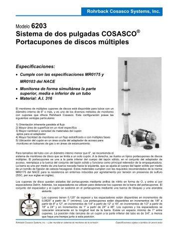 Sistema de dos pulgadas COSASCO Portacupones de discos ...