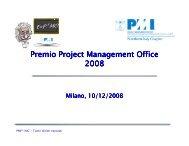 Premio Project Management Office 2008 - PMI-NIC