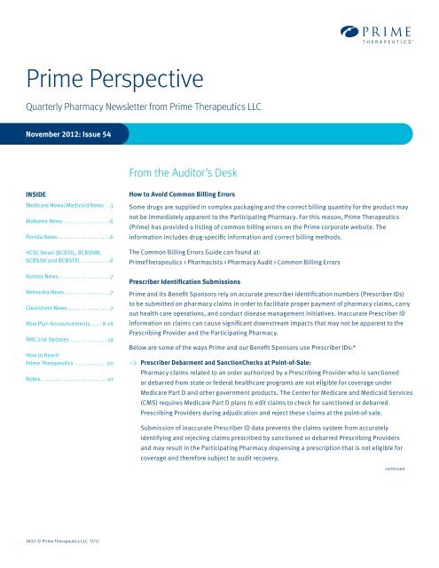Prime Perspective - Prime Therapeutics