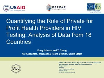 Private sector HIV testing overview.pdf - (SHOPS) project