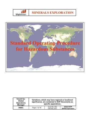 Standard Operating Procedure for Hazardous Substances