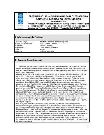 TORs Asistente Tecnico en investigacion.pdf - Programa de las ...
