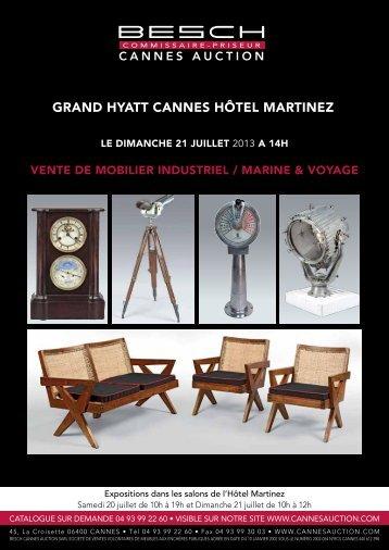 GRAND HYATT CANNES HÔTEL MARTINEZ - Besch Cannes Auction