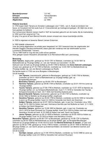 1.6.140 Boerderij Tijman/Sanders - De Hofmarken