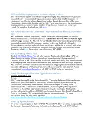 MENA scholarship program for masters and ph.d ... - ASU International