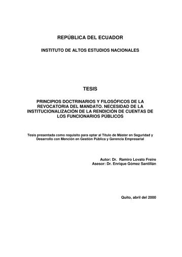 LOVATO RAMIRO 2000.pdf - Repositorio Digital IAEN - Instituto de ...