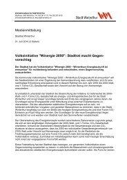 Informationsdienst der Stadt Winterthur