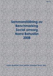 Benchmarkingrapport omsorg 2007 till årsredovisningen