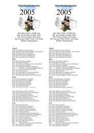 JU Weinfestkalender 2005 - JU Rhein-Pfalz-Kreis