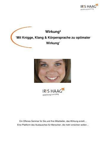 Wirkung³ - IRIS HAAG® Training & Beratung GmbH