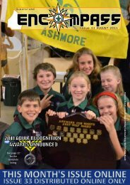 Issue 33 AUGUST 2011 - Goodna Scout Group - Scouts Queensland