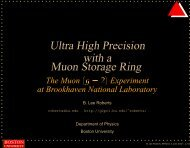 Ultra High Precision with a Muon Storage Ring - G-2 group - Boston ...