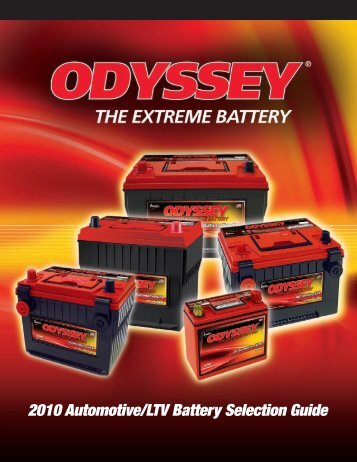 Battery Selection Guide - ODYSSEY Batteries