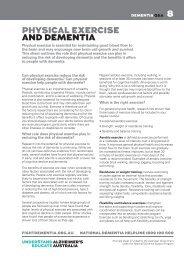 PHYSICAL EXERCISE AND DEMENTIA 8 - Alzheimer's Australia