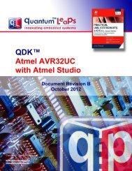 QDK AVR32 UC-GNU - Quantum Leaps