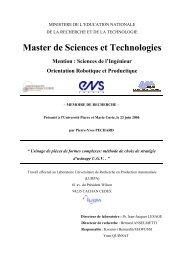 Master de Sciences et Technologies