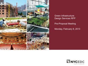 Green Infrastructure Design Services RFP Pre-Proposal ... - NYCEDC