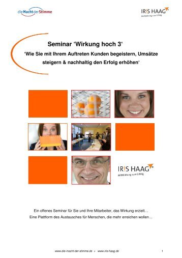 Wirkung hoch 3 - IRIS HAAG® Training & Beratung GmbH
