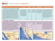 Tour Routes of Mexico: Trip Planning Tool