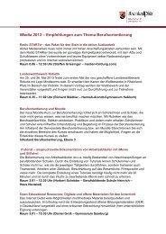 Empfehlungen zum Thema Berufsorientierung - iMedia