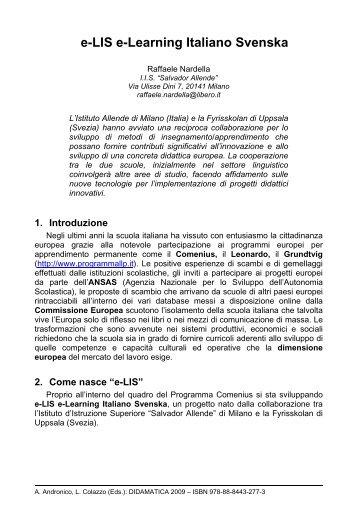 e-LIS e-Learning Italiano Svenska - Università degli Studi di Trento