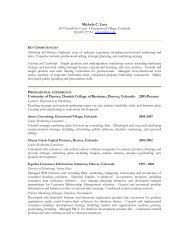 Michele C. Lutz University of Denver, Daniels College of Business ...
