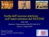 Casella G., Scelta dell'accesso arterioso nell'interventistica ... - Anmco