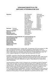 verksamhetsberättelse för jemtlands veteranbilklubb 2010 - JVBK