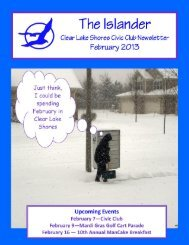 Feburary 2013 - Clear Lake Shores Civic Club