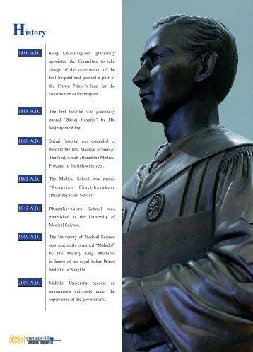 ประวัติมหาวิทยาลัย - Mahidol University