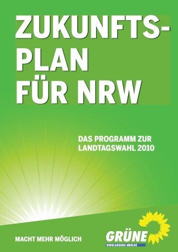 Zukunftsplan - Bündnis 90/Die Grünen NRW