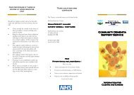 Information leaflet for clients carers - Sheffield Health and Social Care