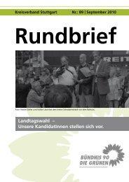 September 2010 Rundbrief Landtagswahl - Grüne Stuttgart