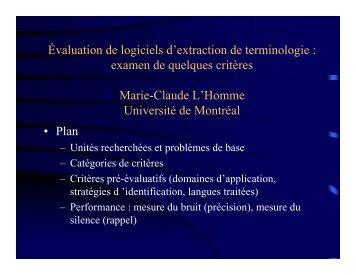 PDF, 57 Ko - Observatoire de linguistique Sens-Texte (OLST ...