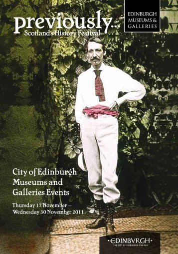 City of Edinburgh Museums and Galleries Events