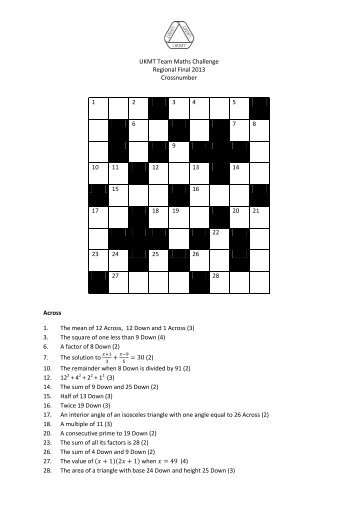 Senior Maths Challenge Answers Student Room Solutions
