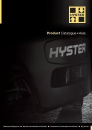 Product Catalogue n Asia - Hyster Company