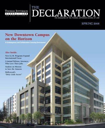 The Declaration - Spring 2008 - Thomas Jefferson School of Law