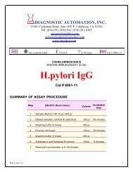 H pylori IgA - ELISA kits - Rapid tests