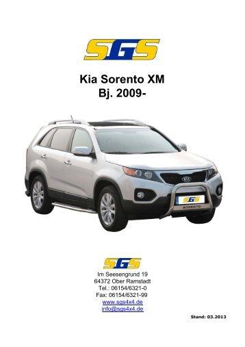 Sorento Typ XM ab Bj. 2009 - SGS