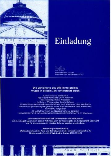 Einladung - bfb - Bundesverband der Fach