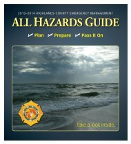 2013-2014 All Hazards Guide - Highlands County