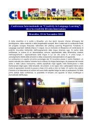 """Conferenza Internazionale su """"Creativity in Language Learning ..."""